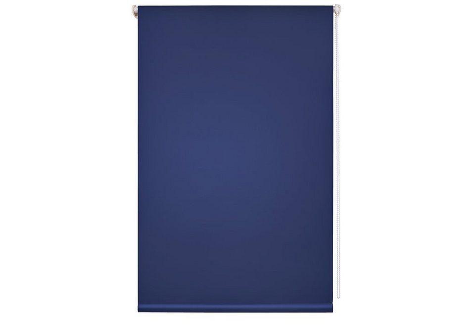 Rollo, Liedeco, »Klemmfix«, lichtdurchlässig, inkl. Klemmträger, ohne Bohren, Lichtschutz in blau