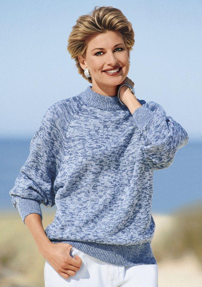 Classic Basics Pullover in pflegeleichter Qualität in blau