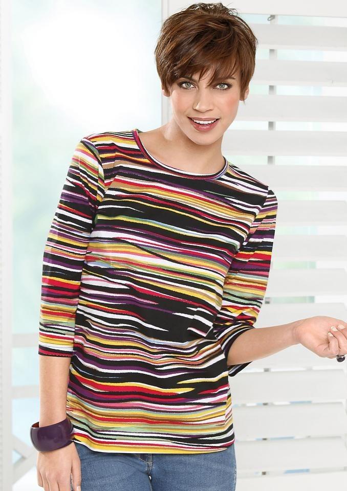 Classic Basics Shirt mit 3/4-Ärmeln in bunt-gestreift