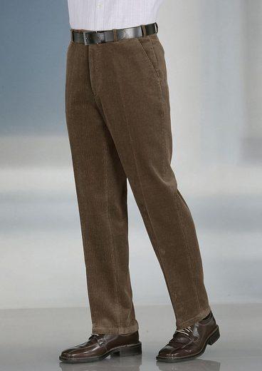Classic Basics Cord-Hose mit Gürtelschlaufen sowie Knopf- und Hakenverschluss