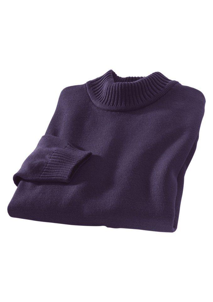Classic Basics Pullover mit Stehkragen in lila