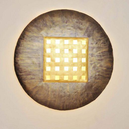 Holländer Wandleuchte »4-flammig Disque Extra Large Bronzo Metall-Capiz Muschel Gold-Bronze-Rot-Natur«