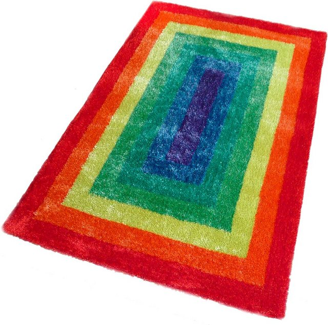 Kinderteppich »Regenbogen«| Lüttenhütt| rechteckig| Höhe 30 mm| in bunten Farben | Kinderzimmer > Textilien für Kinder > Kinderteppiche | Lüttenhütt