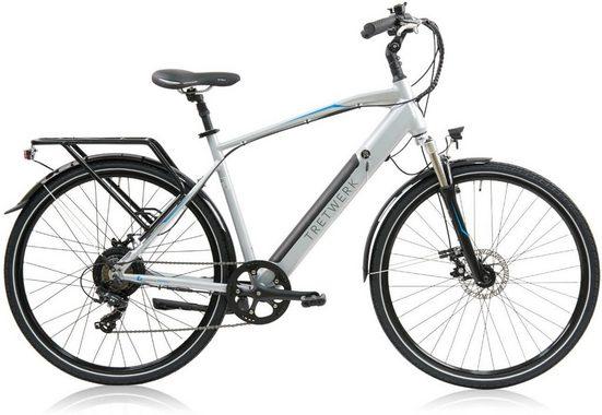 Tretwerk E-Bike »Bronx 2.0«, 7 Gang Shimano Shimano Tourney Schaltwerk, Kettenschaltung, Heckmotor 250 W