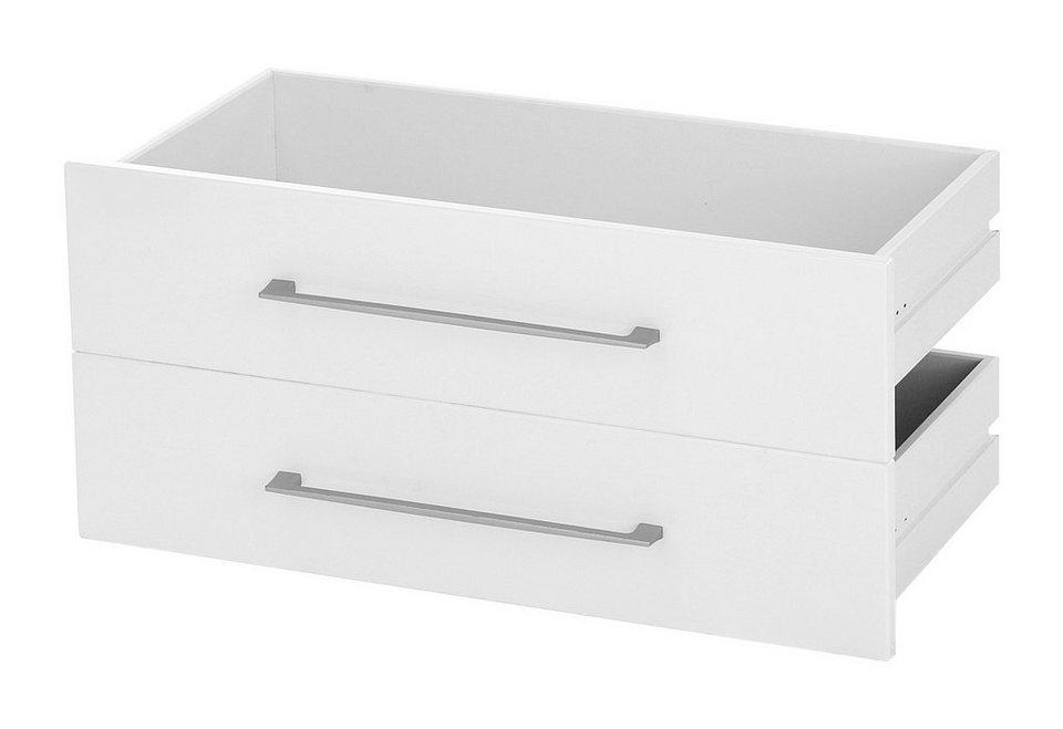 Schubkasten-Fronten »Borkum« in weiß