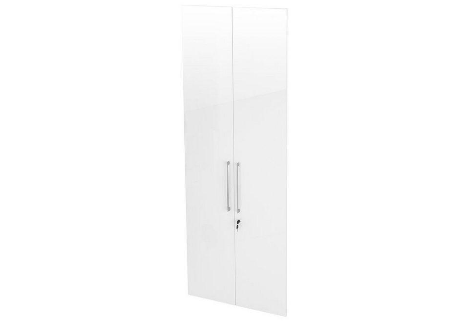 Türensatz »Borkum«, Höhe 211 cm in weiß