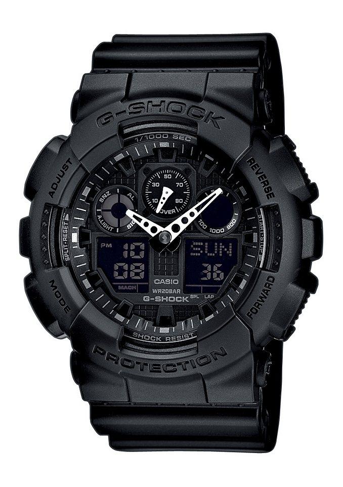 Casio G-Shock Chronograph »GA-100-1A1ER« in schwarz
