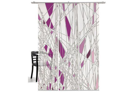 Schiebegardine »Labyrinth«, emotion textiles, Klettband (3 Stück), HxB: 260x60, mit Befestigungszubehör