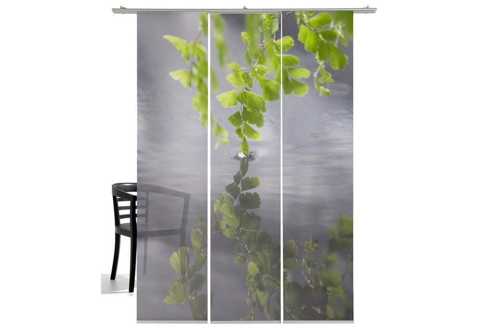 schiebegardine harmonie emotion textiles klettband 3 st ck inkl beschwerungsstange. Black Bedroom Furniture Sets. Home Design Ideas