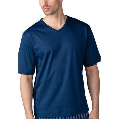 Mey Pyjamaoberteil »Basic Lounge Nightwear Mix & Match« Shirt 1/2 Arm - Halsnaher V-Auschnitt, Dezentenes Fähnchen-Label am Saum, Natürliches Tragegefühl