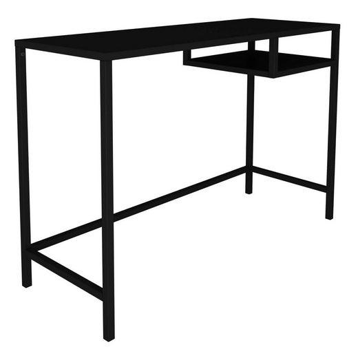 mokebo Konsolentisch »Der Produktive«, mit Ablage in schwarz Metall