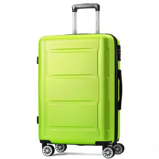 Merax Hartschalen-Trolley, 4 Rollen, Expandierbares Hartschalen-Reisekofferset mit TSA Schloß, Teleskopgriff und 4 Rädern