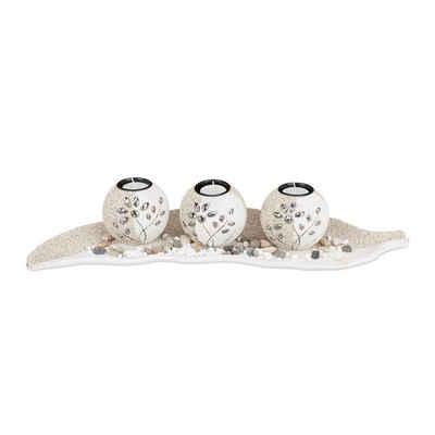 relaxdays Teelichthalter »Teelichthalter Set Sand«
