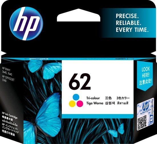 HP »hp 62 Original Cyan, Magenta, Gelb« Tintenpatrone (1-tlg)