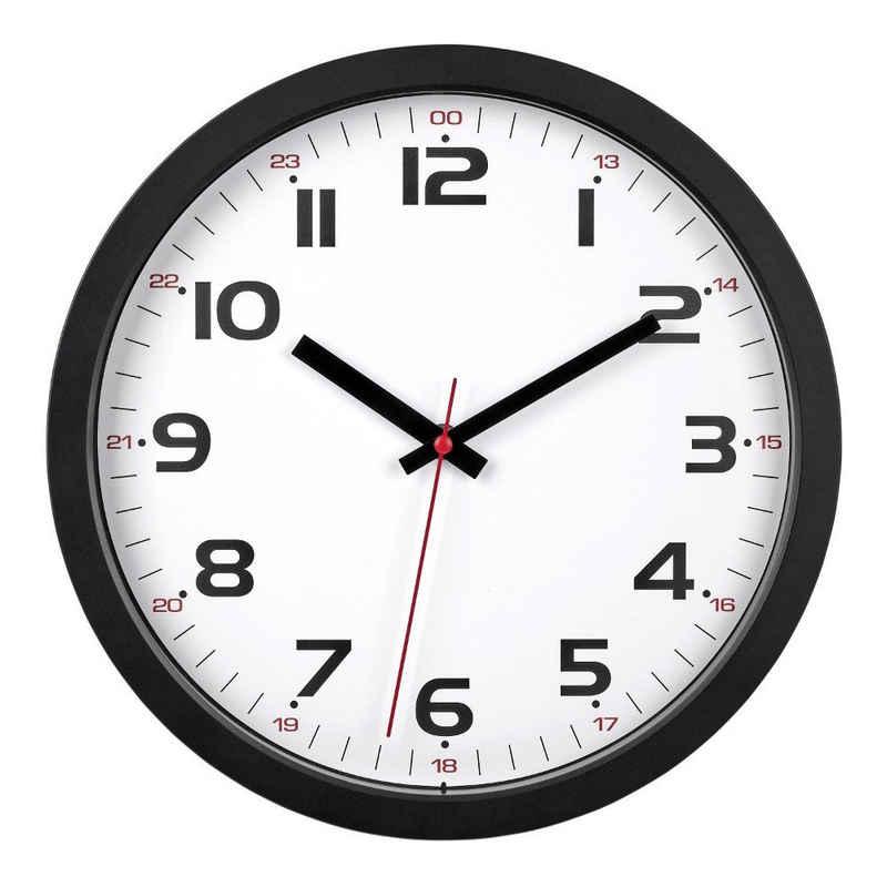 TFA Dostmann Wanduhr »Analoge Wanduhr TFA 60.3050 leises Sweep Uhrwerk Bürouhr Quarzuhr«