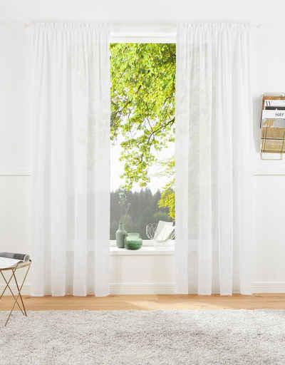 Vorhang »Lanea«, LeGer Home by Lena Gercke, Multifunktionsband (1 Stück), Leinenoptik,halbtransparent