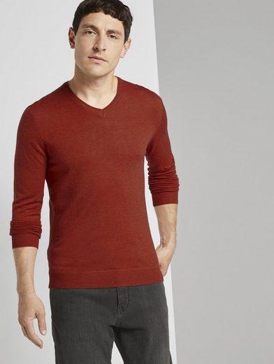TOM TAILOR Strickpullover »Feiner Pullover aus Merinowolle«
