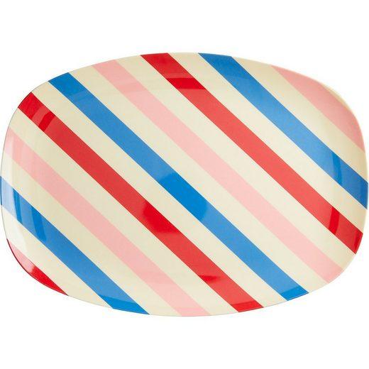 """rice Servierplatte »Melamin Servier-Teller """"Candy Stripes"""", 30x22cm«"""