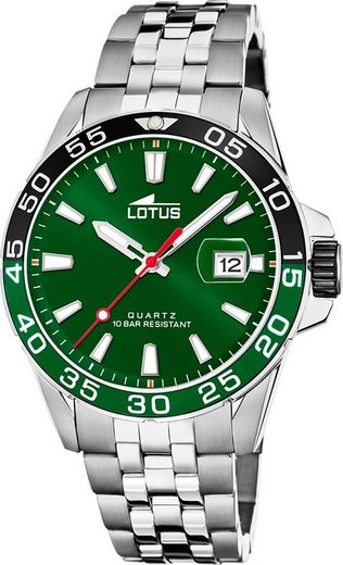Lotus Quarzuhr »UL18766/2 Lotus Herren Armbanduhr Sport 18766/2«, (Analoguhr), Herrenuhr rund, groß (ca. 44mm), Edelstahl, Edelstahlarmband, Fashion-Style