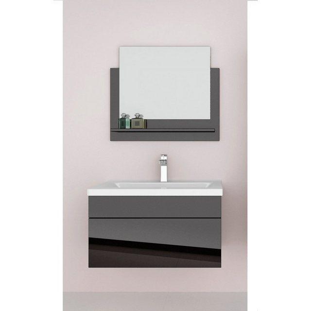 Badezimmer Sets - HOME DELUXE Badmöbel Set »Wangerooge M«, (3 St), mit Push To Open Technik, edle Hochglanzoptik  - Onlineshop OTTO