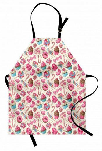 Abakuhaus Kochschürze »Höhenverstellbar Klare Farben ohne verblassen«, Zuckerstange Lecker Essen auf Punkte