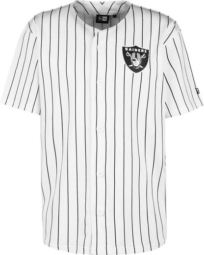 New Era Trainingsshirt »Raiders Pinstripe Baseball Jersey«