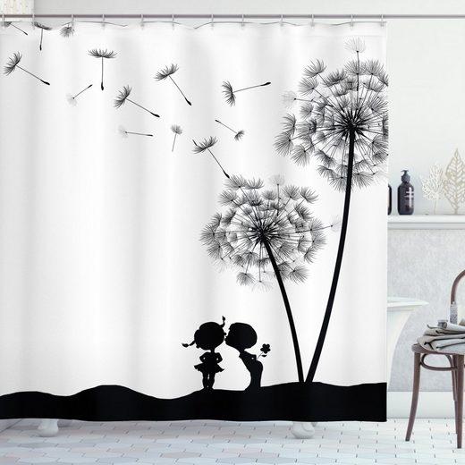 Abakuhaus Duschvorhang »Moderner Digitaldruck mit 12 Haken auf Stoff Wasser Resistent« Breite 175 cm, Höhe 240 cm, Schwarz und weiß Junge und Mädchen