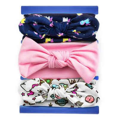 MyBeautyworld24 Stirnband »3 Stck im Set Baby Stirnbänder 0 – 24 Monate verknotete Baby Stirnband«