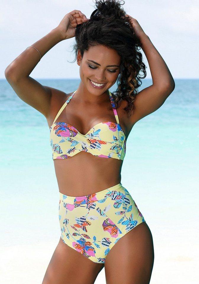 Bademode - Sunseeker Highwaist Bikini Hose »Jam«, mit Alloverprint › gelb  - Onlineshop OTTO