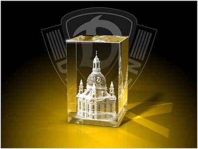 GLASFOTO.COM Dekofigur »Dynamo Dresden - Quader - Fanartikel -Kristallglas mit Innengravur«
