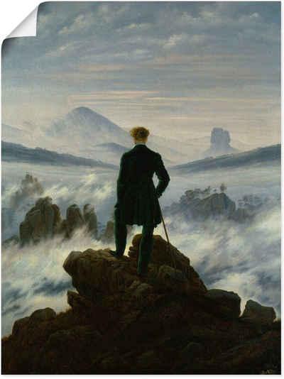 Artland Wandbild »Der Wanderer über dem Nebelmeer. Um 1818«, Mann (1 Stück)