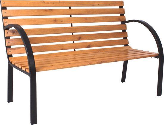 GARDEN PLEASURE Gartenbank »Bellevue«, Stahl / Holz, 122x60 cm