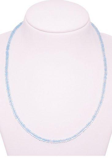 Firetti Collier »Filigran  blau  4 mm breit  facettiert«  mit Blau Topas  Made in Germany