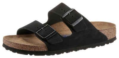 Birkenstock »Arizona« Pantolette aus Nubukleder, schmale Schuhweite