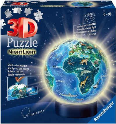 Ravensburger Puzzleball »Nachtlicht Erde bei Nacht«, 72 Puzzleteile, mit Leuchtmodul inkl. LEDs; Made in Europe, FSC® - schützt Wald - weltweit