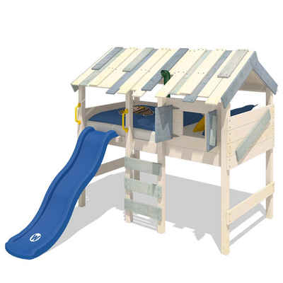Wickey Kinderbett »Hochbett CrAzY Lagoon mit Rutsche Hausbett 90 x 200 cm, Etagenbett«