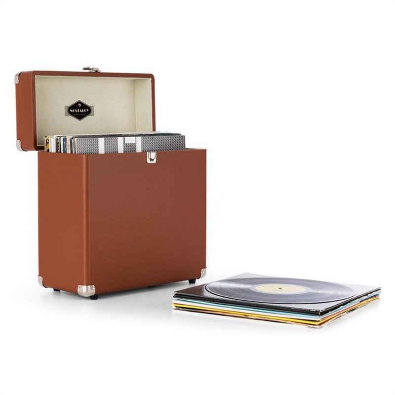 Auna »TTS6 Vinylbox Plattenkoffer Leder Nostalgie 30 LPs braun« Plattenspieler (0)