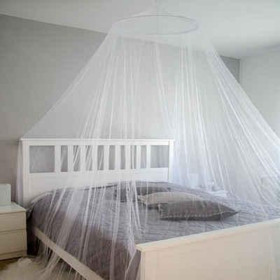 AMANKA Schutznetz »Moskitonetz Mückenabwehr Insektenschutz 12m«, 2,5x12m Betthimmel Mückennetz