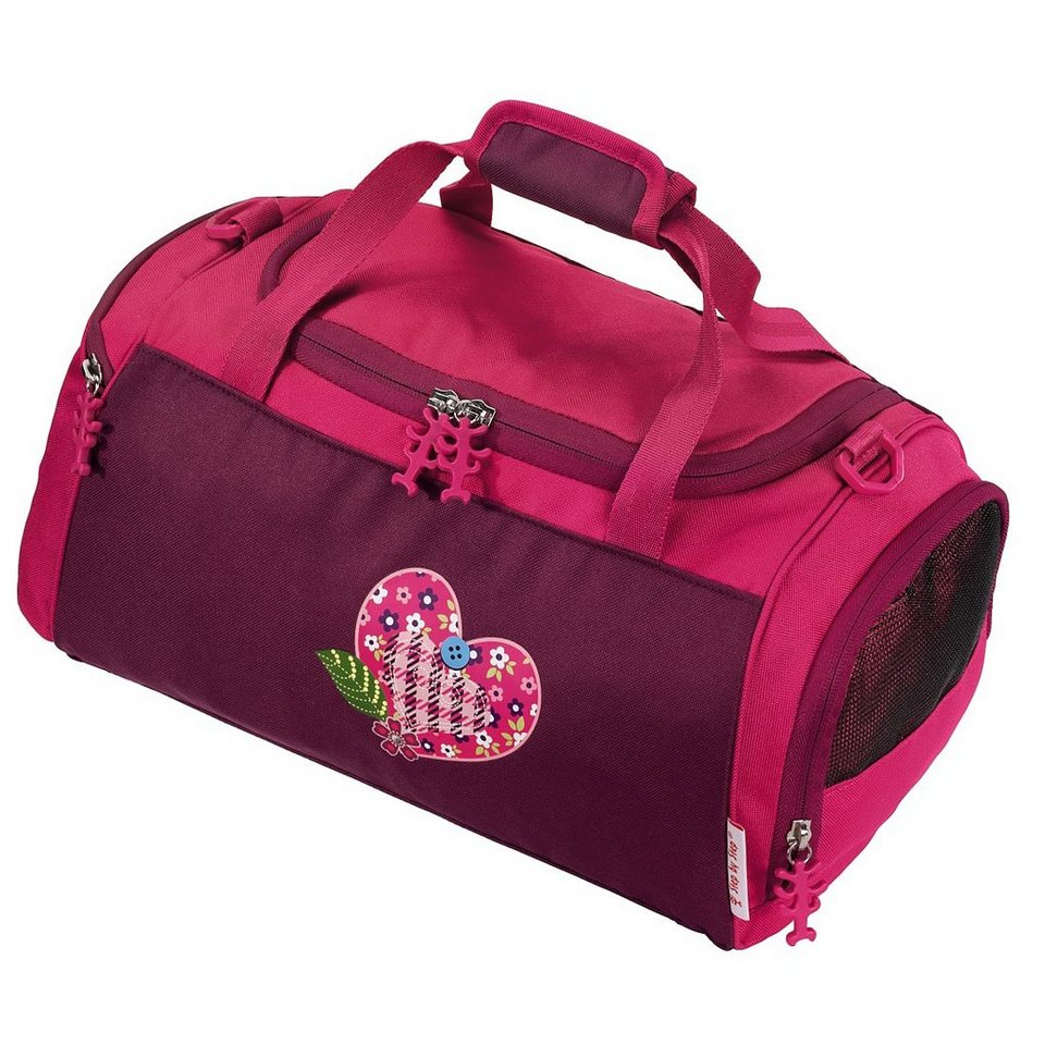 Step by Step Sporttasche Tweedy Hearts in Pink