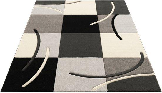 Teppich »Kjer«, my home, rechteckig, Höhe 18 mm, mit handgearbeitetem Konturenschnitt, Wohnzimmer