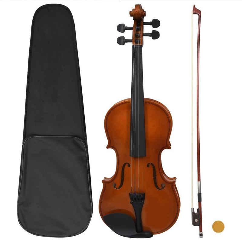 vidaXL Violine »vidaXL Violine Komplettset Bogen Kinnstütze 4/4 Anfängergeige mehrere Auswahl« 4/4