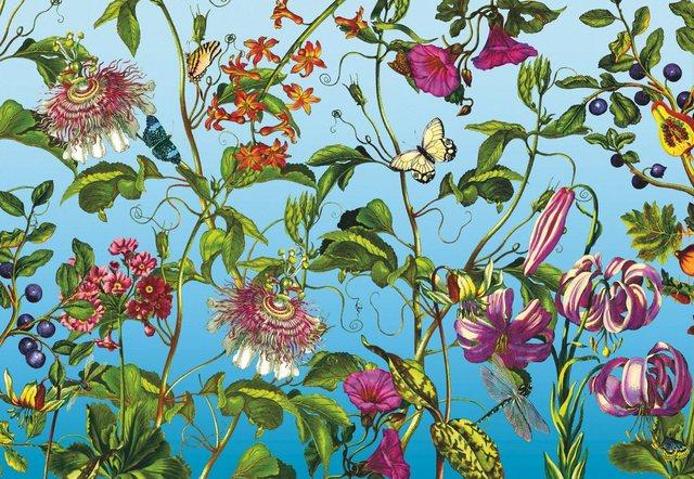 Komar Vlies-Fototapete Jardin 368x248 cm, 4-tlg.