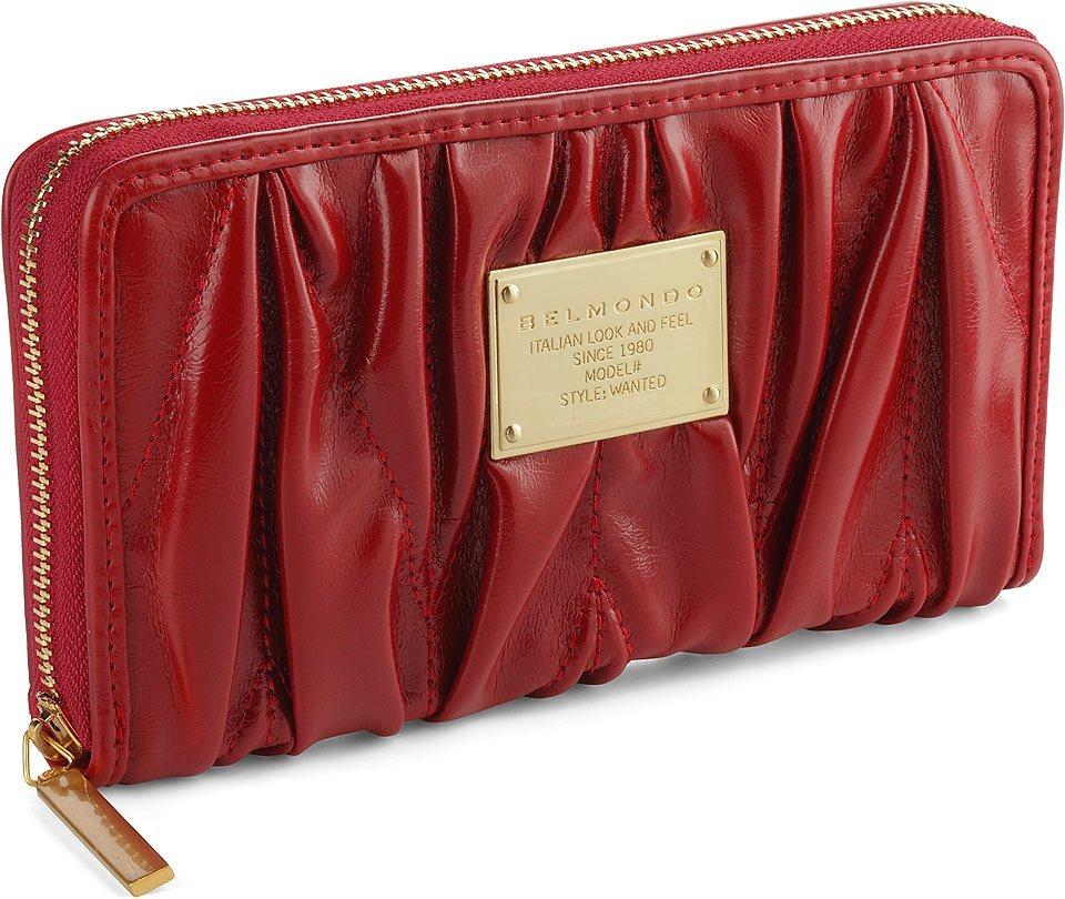 Belmondo Knautsch-Geldbörse in rot