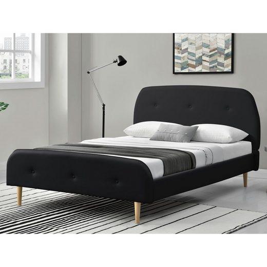 Corium Polsterbett, »Albufeira« Bettgestell Ehebett Kunstlederbett in verschiedenen Farben und Größen