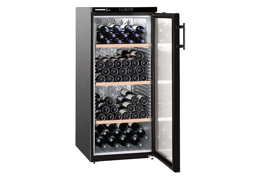 Liebherr Weinkühlschrank Vinothek WKb 3212-20, EEK: A, für 164 Bordeauxflaschen á 0,75l in schwarz
