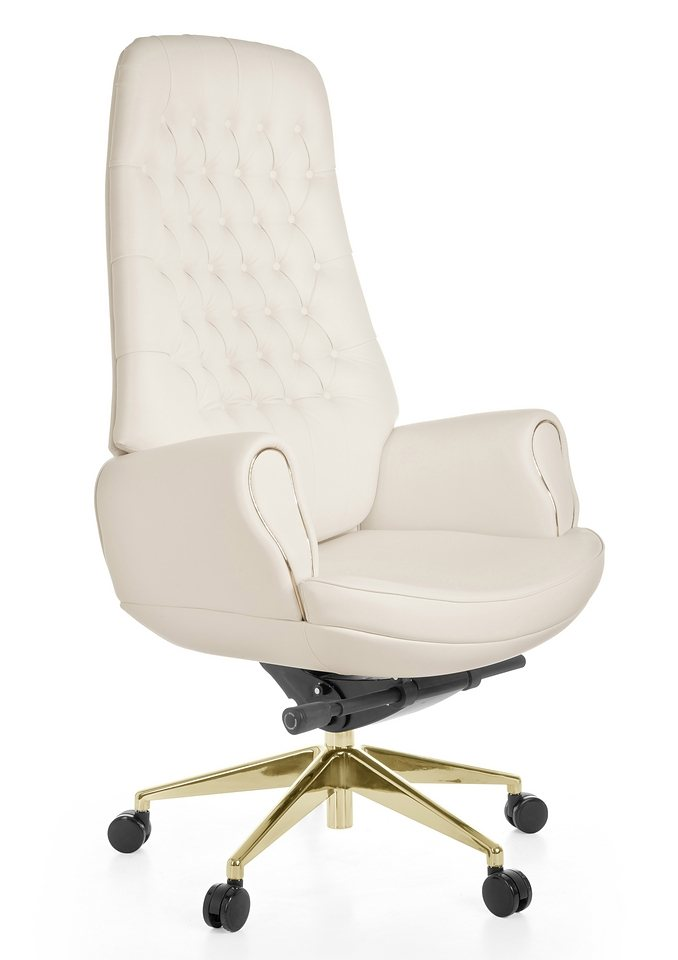Amstyle Chefsessel »Chairman Gold« in creme/beige