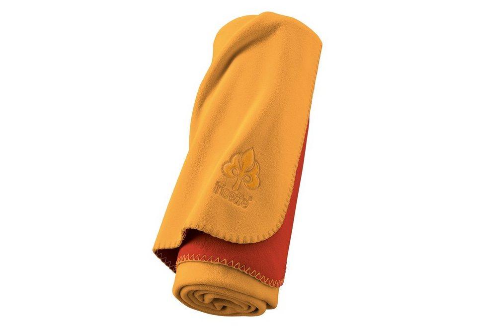 Wohndecken, Irisette, »Rigoletto«, mit Wendemöglichkeit in gelb