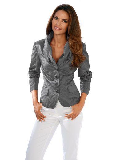 Ashley Brooke By Heine Shawl Collar Blazer With Gloss