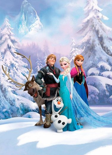 Komar Fototapete »Frozen Winter Land«, glatt, bedruckt, Comic, (Set), ausgezeichnet lichtbeständig
