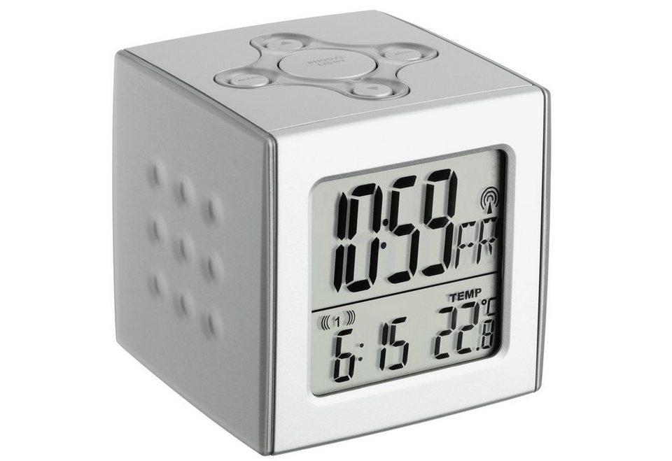 TFA Funk-wecker Cubo, mit Temperatur